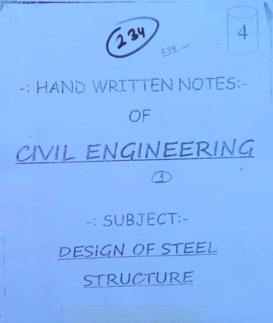 design-of-steel-structures-handwritten-notes